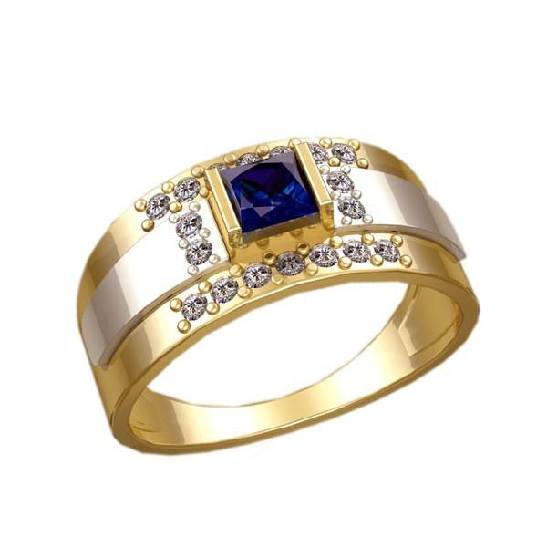 Anel de Formatura Masculino com Diamantes