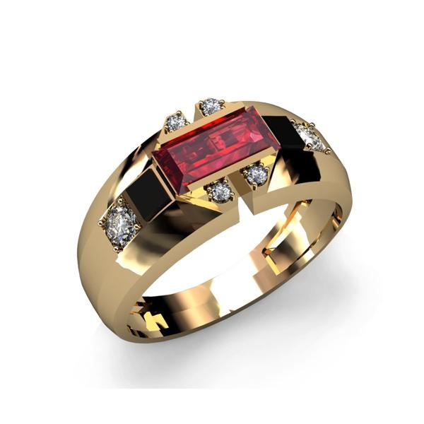Anel de Formatura Ouro 18k Com Diamantes