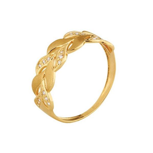 Anel Folhas - Ouro Amarelo 18k