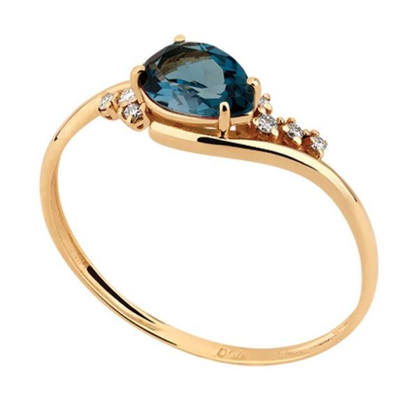 Anel Topázio London com Diamantes - Ouro 18k