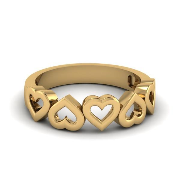 Anel Corações em Ouro