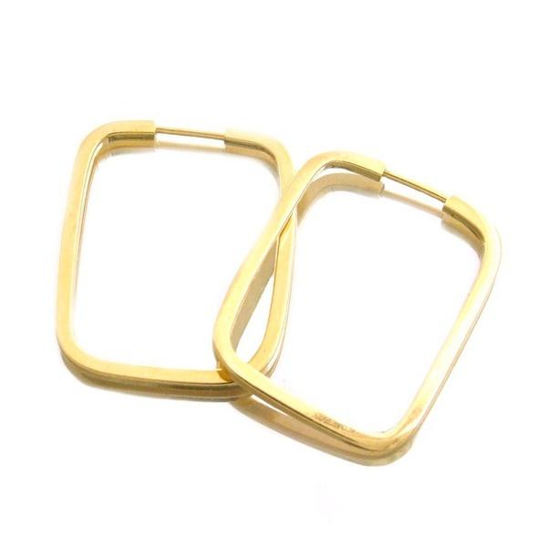 Brinco Fio Quadrado Retangular - Ouro 18k 750