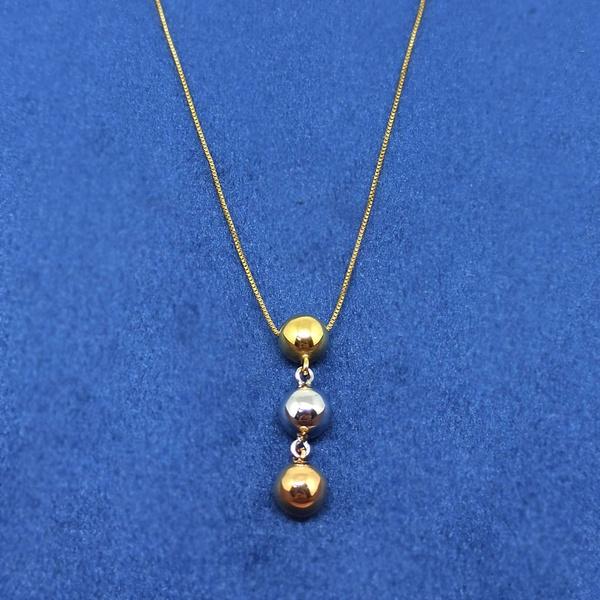 Gargantilha em Ouro 18k Tricolor