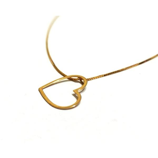 Gargantilha em Ouro 18k Pingente de Coração