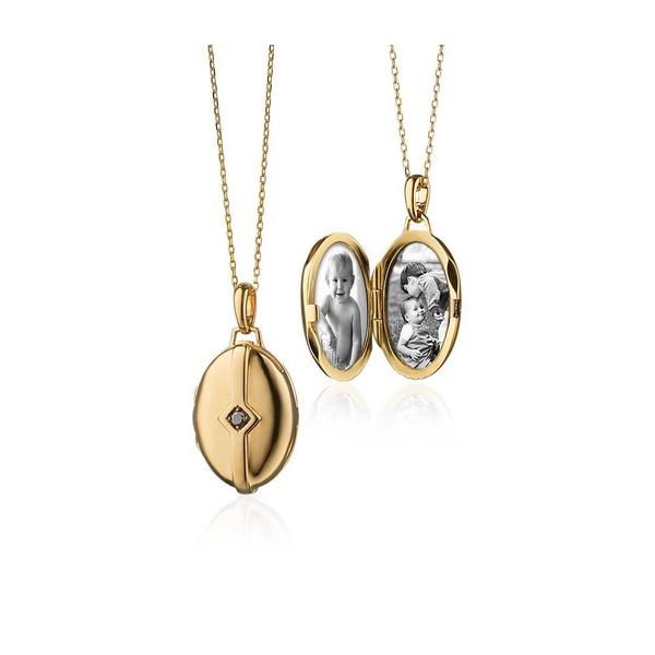 Pingente Relicário em Ouro Amarelo 18k com Diamantes