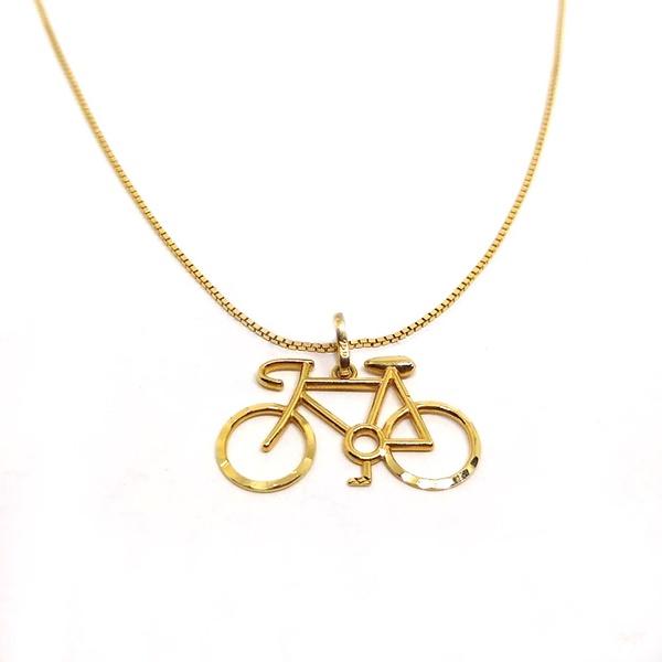 Pingente Bicicleta em Ouro 18k