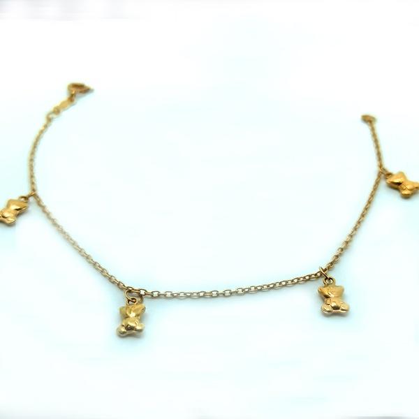 Pulseira em Ouro 18k Berloques de Ursinho