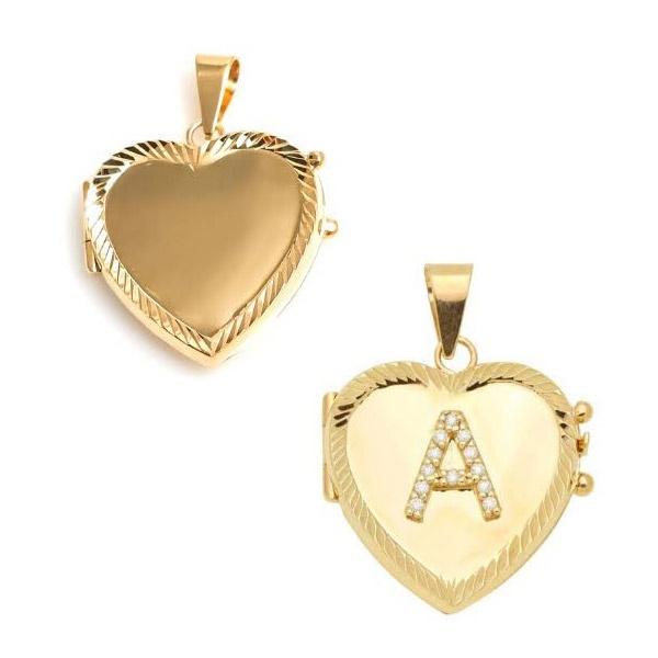 Pingente Relicário em Ouro Coração