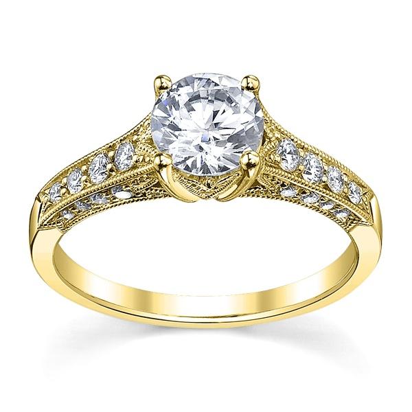 Solitário De Diamantes com 35 Pontos