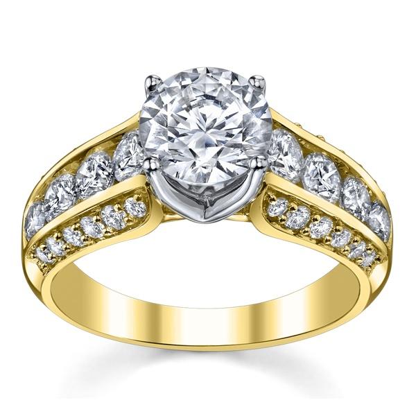 Anel Solitário em Ouro 18k com Diamante de 40 Pontos