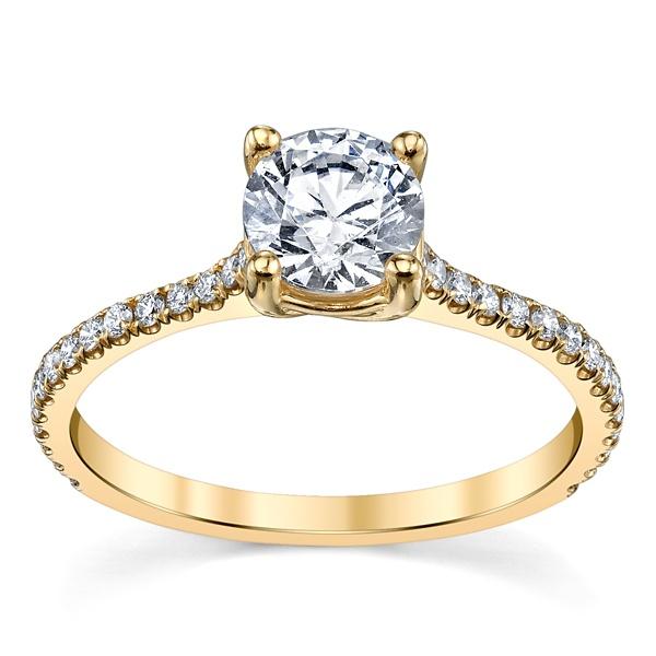 Solitário De Diamantes com 25 Pontos