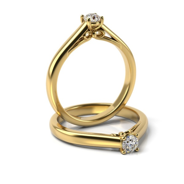 Solitário em Ouro 18k com Diamante de 15 Pontos
