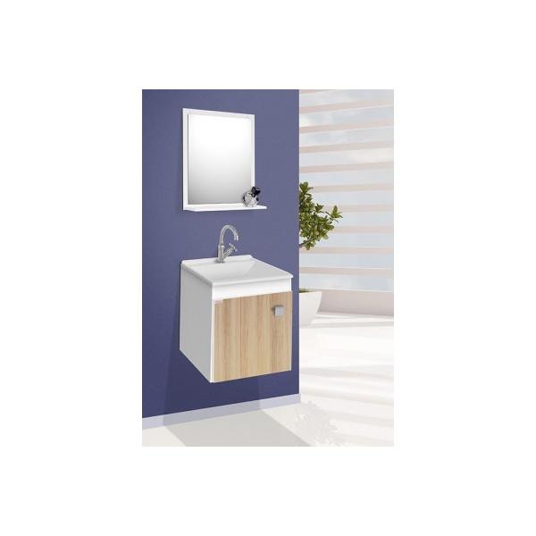 Gabinete p/ banheiro suspenso Uno carvalho - Fabribam