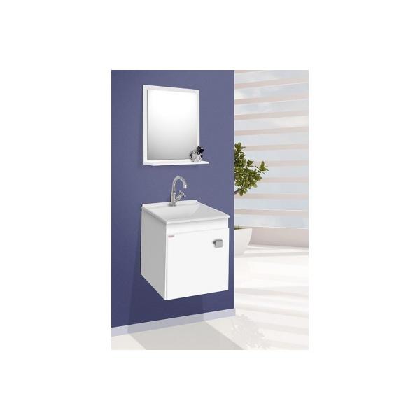 Gabinete p/ banheiro suspenso Uno branco - Fabribam
