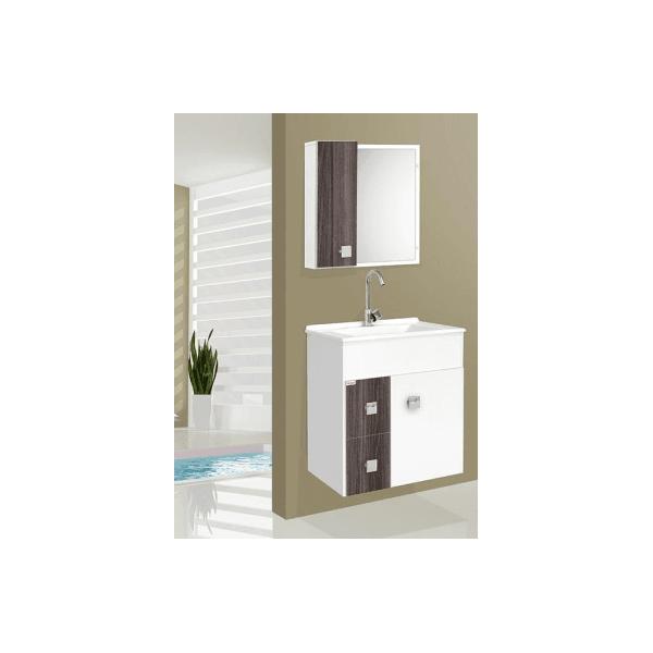 Gabinete p/ banheiro suspenso Ecco nogal - Fabribam