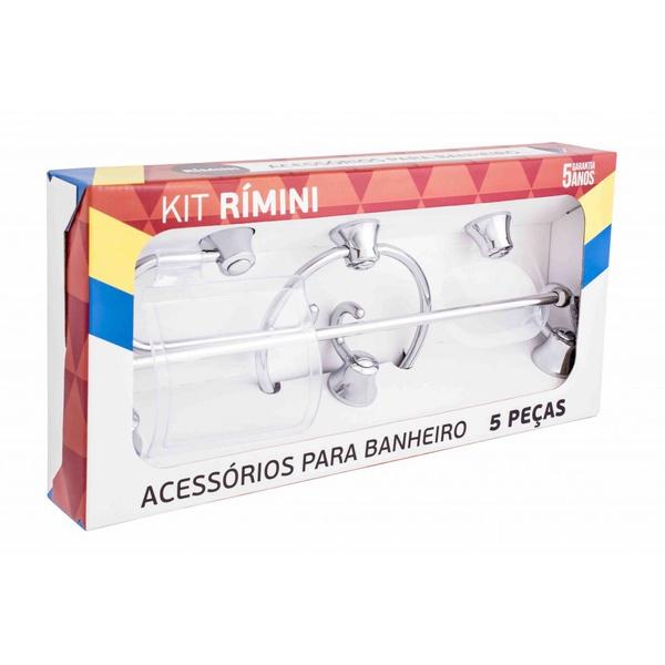 Kit Rimini com 5 Peças Cromado - Aquaplás