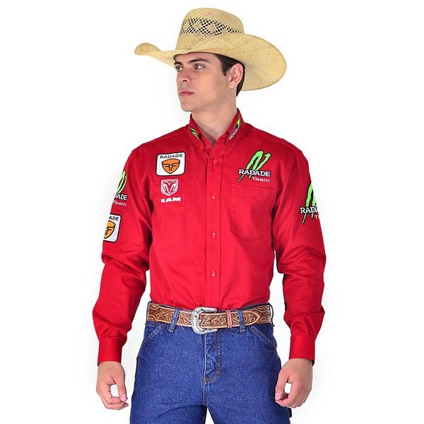 Camisa Country Masculina Vermelho