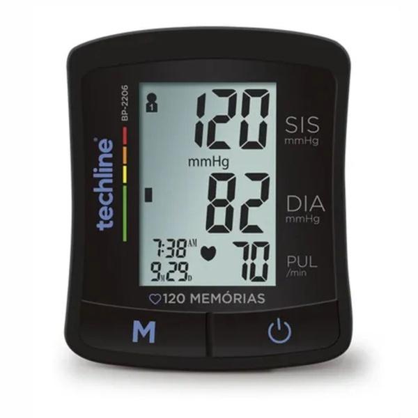 Aparelho medidor de pressão arterial digital de pulso Techline BP-2206