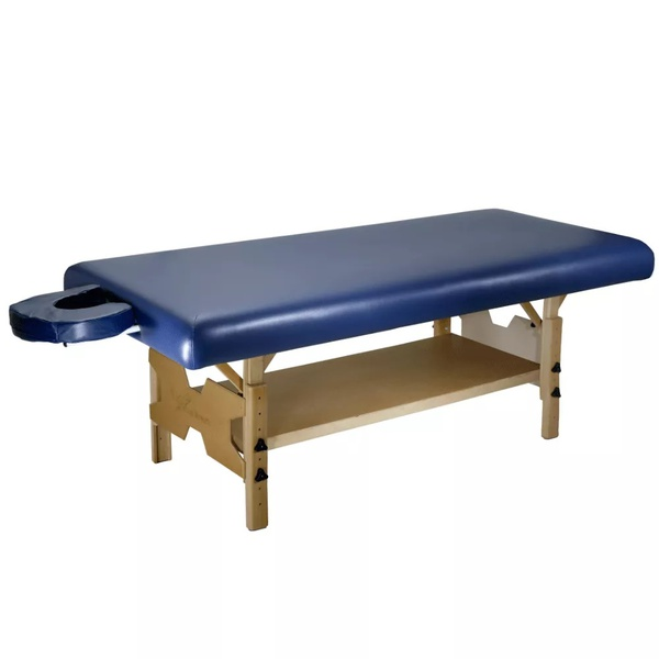Maca de Massagem Fixa Bali Spa Com Regulagem de Altura - Salus Azul Escuro