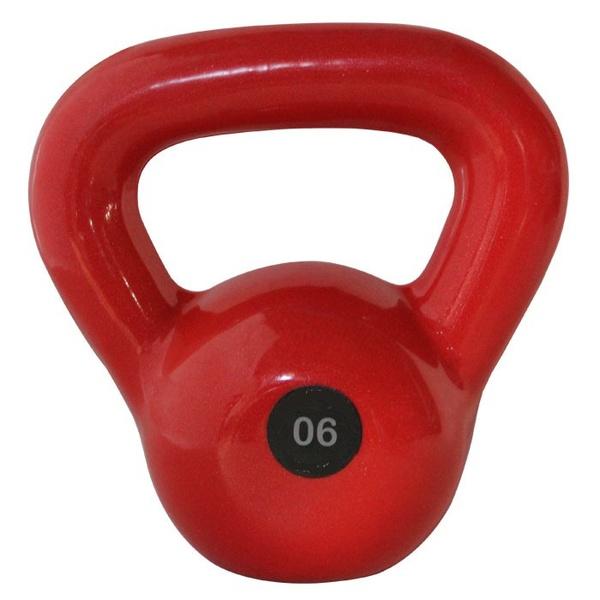 Kettlebell Emborrachado 6Kg - Infinity Fitness