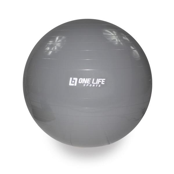 Bola Suiça Para Ginástica One Life 75 cm - Cinza