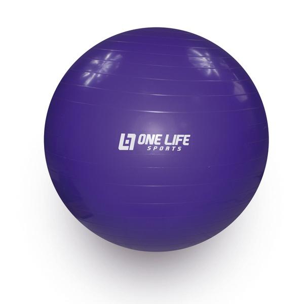 Bola Suiça Para Ginástica One Life 65 cm - Roxa
