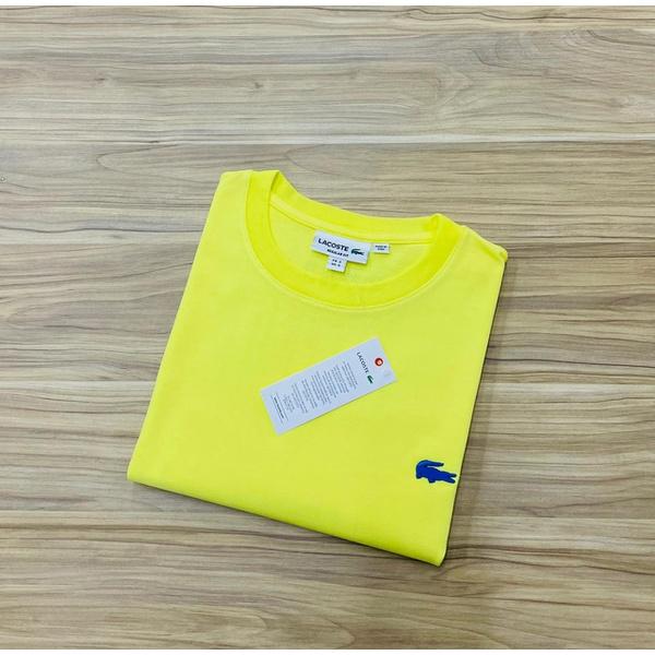 Camiseta Lacoste Básica 3D Amarela