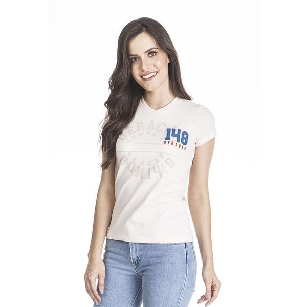 Camiseta Baby look Geração 148 2019 Creme