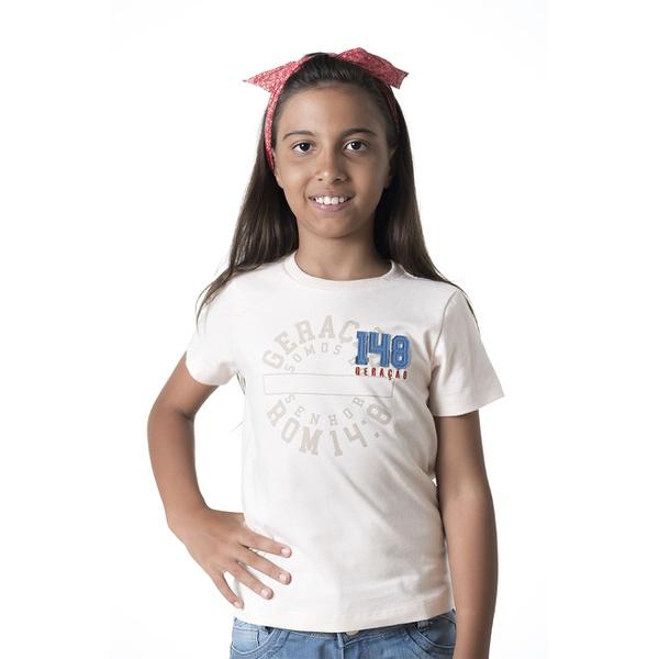 Camiseta Infantil Geração 148 2019 Creme