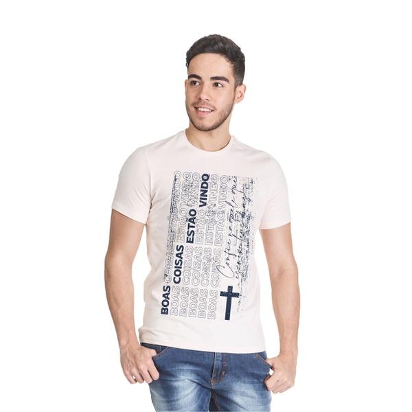 Camiseta Boas Coisas Bege