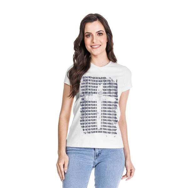 Camiseta Baby Look Filho de Deus Branco