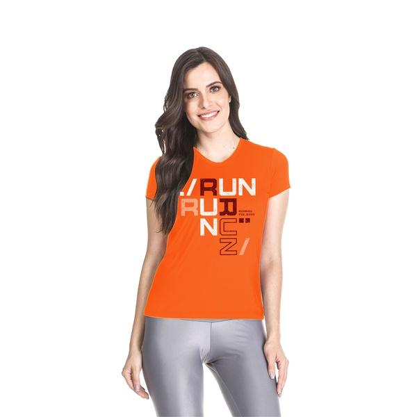 Camiseta Baby Look Dry Fit Running For Jesus Laranja