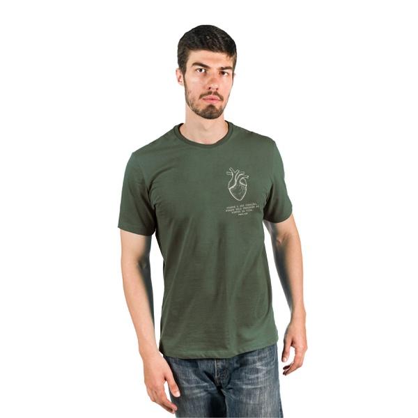 Camiseta Guarde Seu Coração Verde