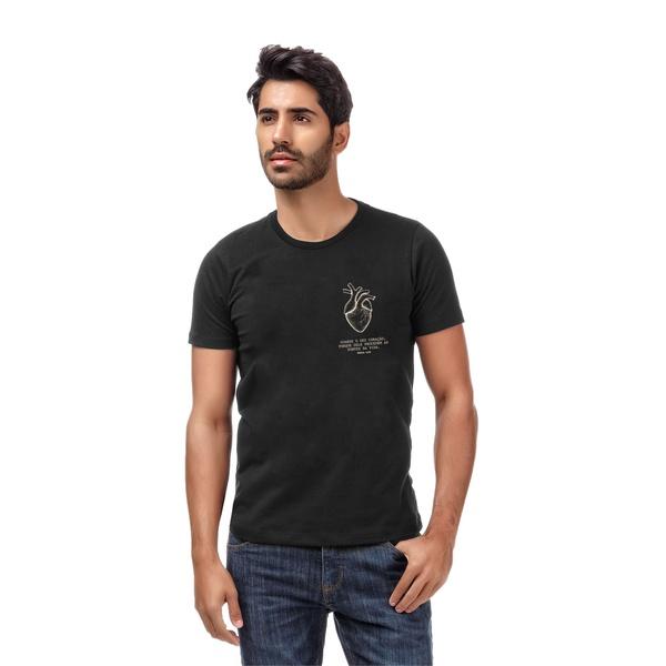 Camiseta Guarde Seu Coração Preto