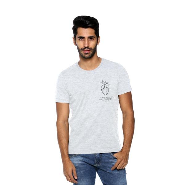 Camiseta Guarde Seu Coração Cinza