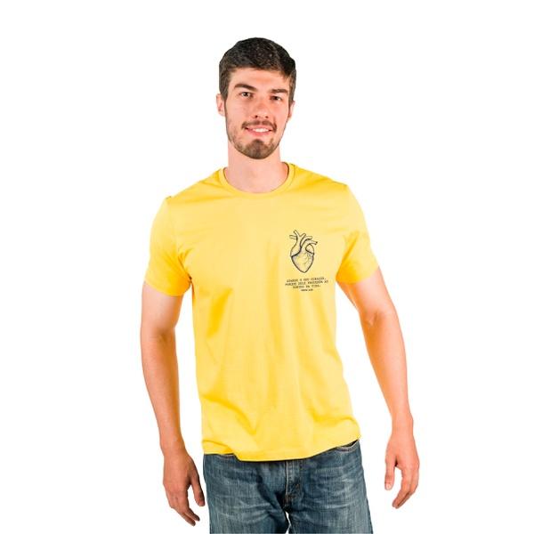 Camiseta Guarde Seu Coração Amarelo