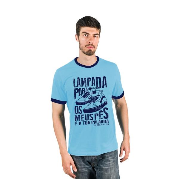 Camiseta masculina Lâmpada para os meus pés