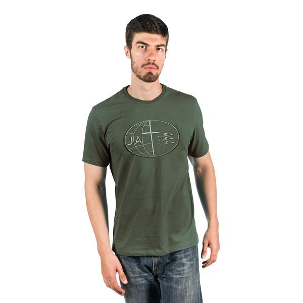 Camiseta Masculina Bordada JA Verde Militar