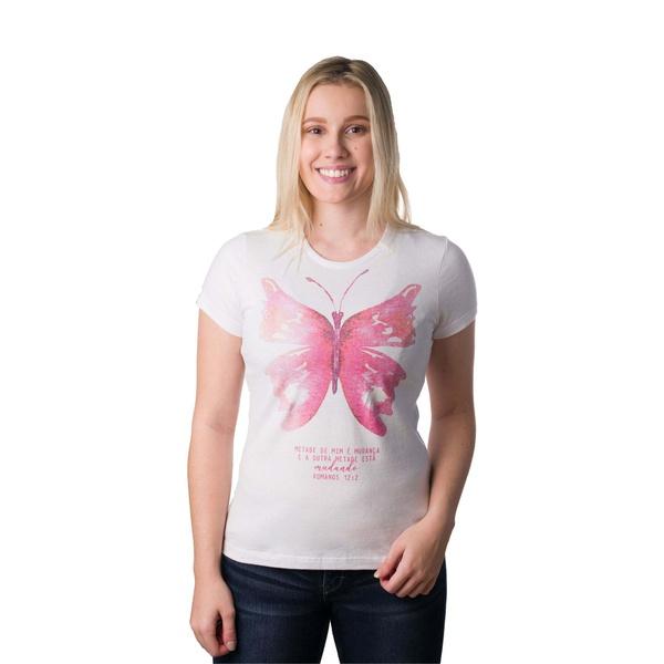 Camiseta Baby Look Transformação Borboleta