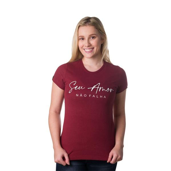 Camiseta Baby Look Seu Amor Não Falha