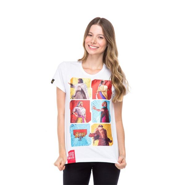 Camiseta Baby Look Heróis da Bíblia
