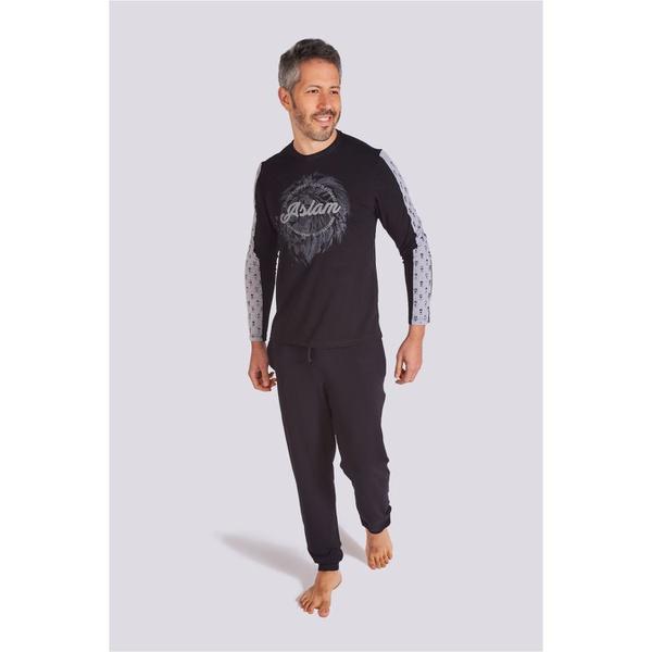 Pijama Masculino Aslam Manga Longa