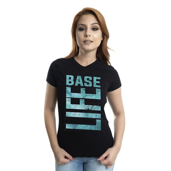 Camiseta Baby Look Base life