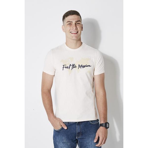 Camiseta Feel The Mission Bege
