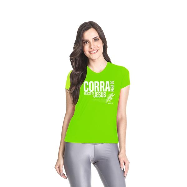 Camiseta Dry Fit Baby Look Corra