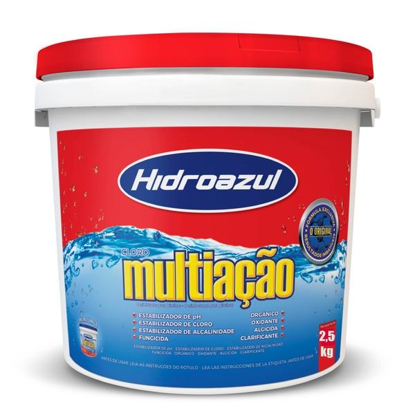 Cloro Para Piscina Multiação HidroAzul 2,5kg