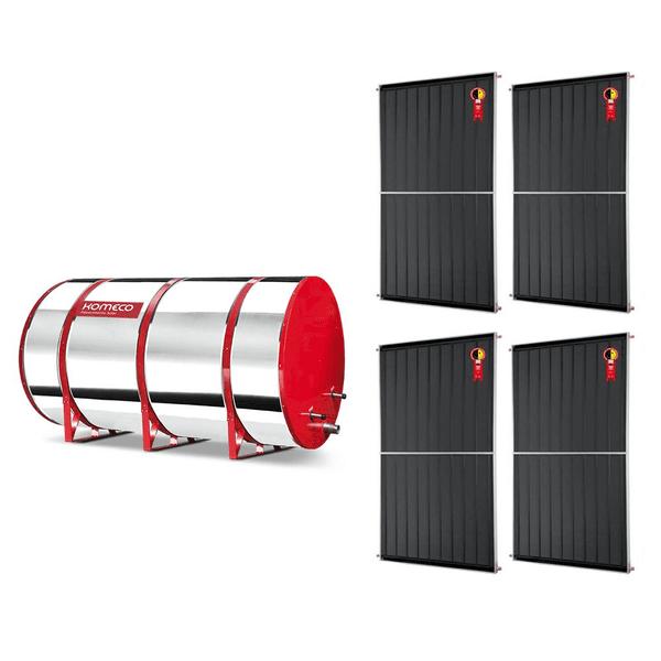 Boiler Solar 800l Baixa Pressão c/ 4 Placas 2,00 x 1,00 komeco