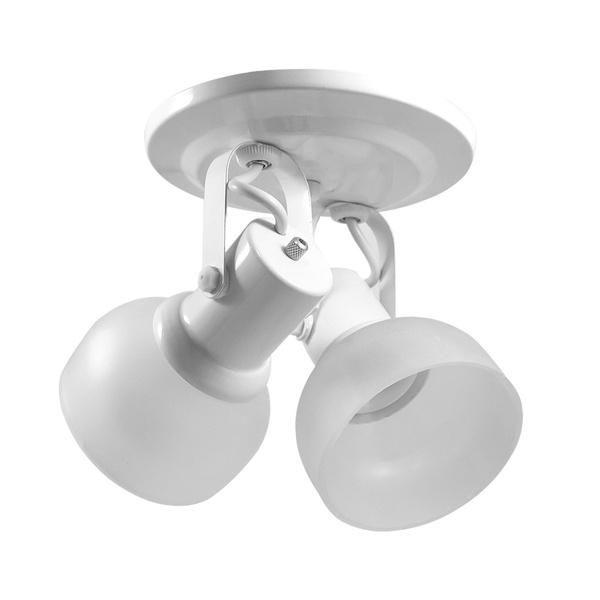 Spot para 2 Lâmpadas E27 com Vidro Branco