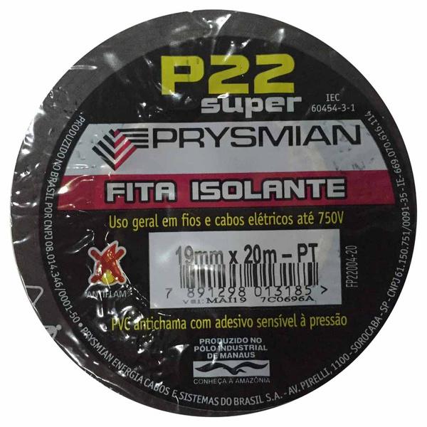 Fita Isolante 19mm x 20m P-22 Preta Prysmian