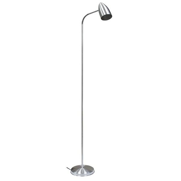 Luminária Flexível de Coluna para 1 Lâmpada E27 Escovada